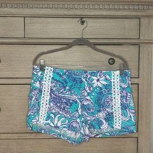 Lilly Pulitzer Blue & Purple Shorts Sz 8